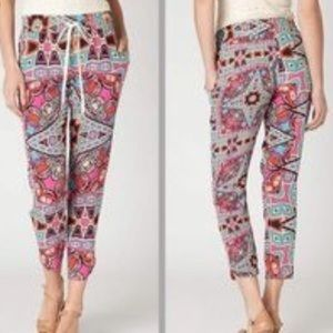 {Anthropologie} Leifnotes 100% silk joggers